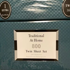 Traditional At Home 4p Twin Sheet Set Forest green